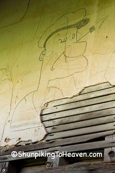 Popeye Graffiti at Jefferson Township District #1 School, Huntington County, Indiana