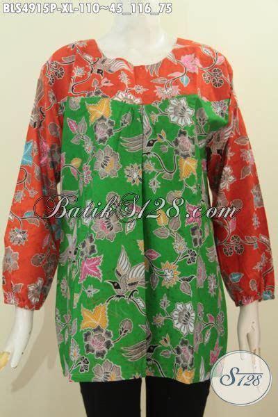 busana batik wanita dewasa ukuran xl baju batik lengan