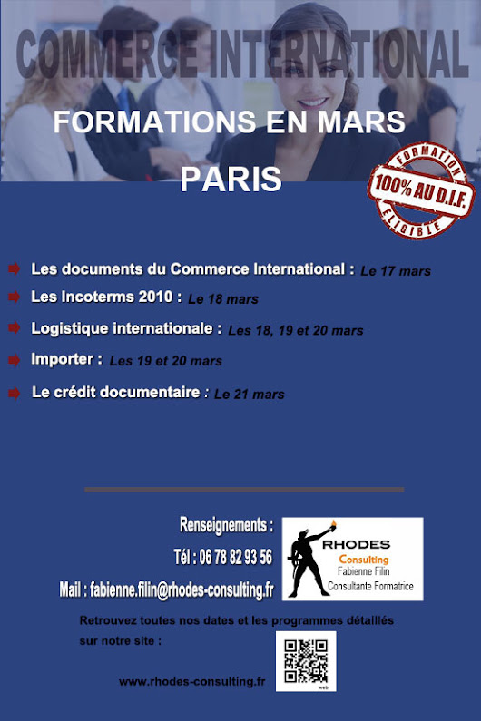 Formation Commerce International en mars - Rhodes consulting