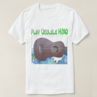 Men's Basic Play Ukulele NOW Logo T-Shirt