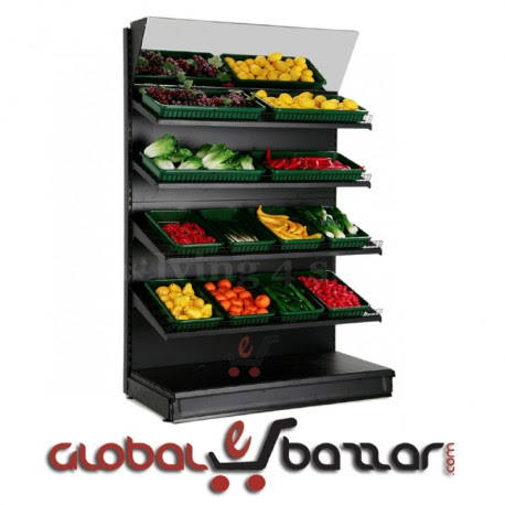 Supermarket fruit-vegetable display stands, racks, shelves, gondola BD