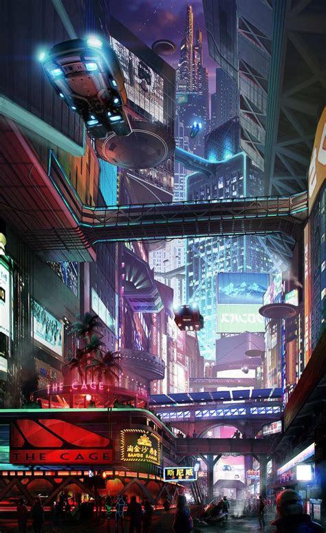cityscape   hazzard cyberpunk future city cyber