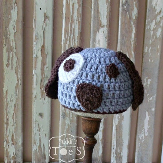 Baby Puppy Hat Crochet Puppy Baby Boy Hat Newborn Puppy Baby