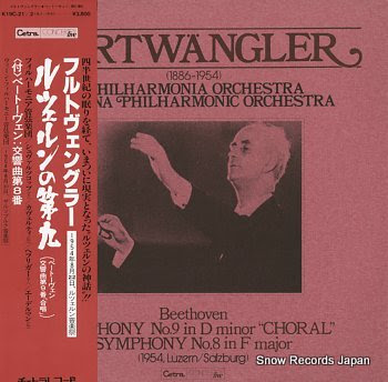 FURTWANGLER, WILHELM beethoven; symphony no.9 in d minor choral