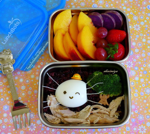 Spider Egg Halloween LunchBots Clicks Bento by sherimiya ♥