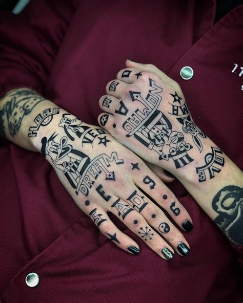 hand tattoos love theyre