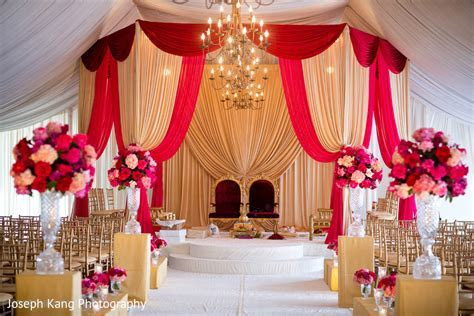 Mandap in Chicago, IL Indian Fusion Wedding by Joseph Kang