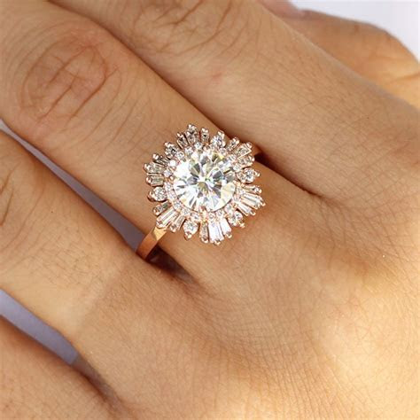 Hexagon Gatsby 2 carat in 2019   Engagement rings unique