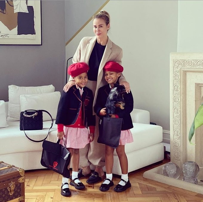 Mikel Obi's daughters look adorable in their school uniform on first day of school