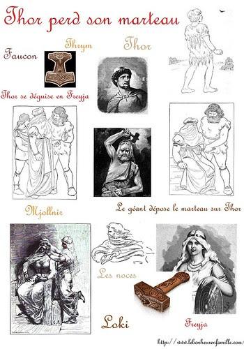 AAAfiche mythe scandinave Thor perd son marteau