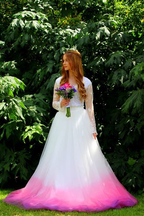 Rose Ombre Wedding Dress