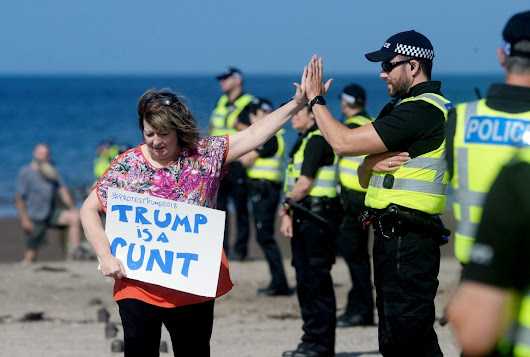 Scotland greets Donald Trump as he plays golf at his Turnberry resort