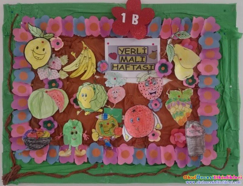 Yerli Malı Haftası Pano çalışmaları Okul öncesi Etkinlikleri