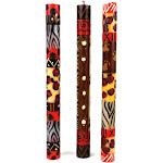 Set of Three Boxed Tall Hand-Painted Candles - Uzima Design - Nobunto