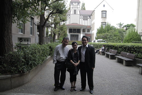 With mom and dad in front of the Waseda theater museum