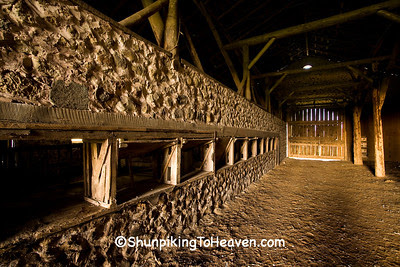Wooden Doors for Feeding Hay, Inside Historic Chase Stone Barn, Oconto County, Wisconsin