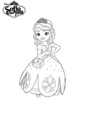 Kleurplaat Sophia Het Prinsesje Princesa Sofia Dibujos Colorear