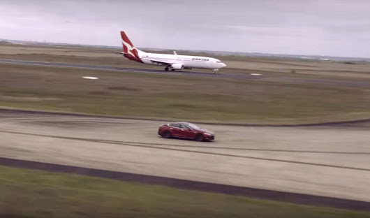 Tesla Model S and Boeing 737 Face Off