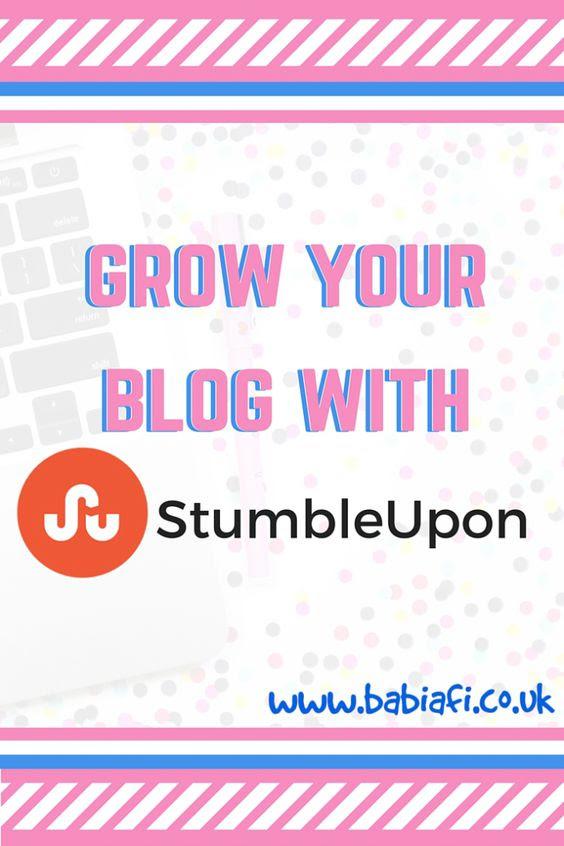Grow your blog with stumbleupon