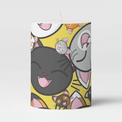 Oodles of Kitty- Pillar Candle (Multiple sizes)