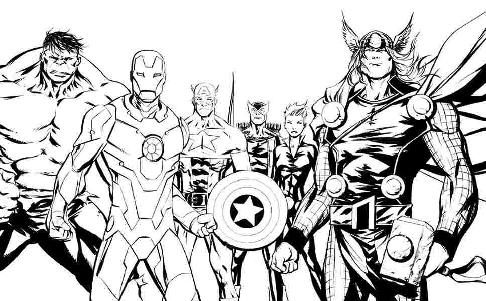 Superhero Coloring Pages For Adults Coloring And Drawing