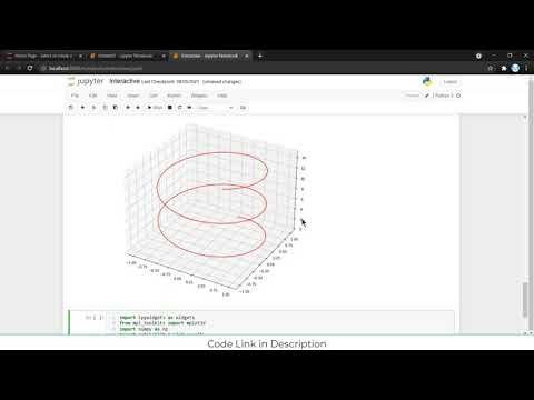 3D interactive Graph Animation in Jupyter Notebook