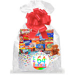 Cakesupplyshop Item#064BSG Happy 64th Birthday Rainbow Thinking of You Cookies, Candy & More Care Package Snack Gift Box Bundle Set - Ships Fast!