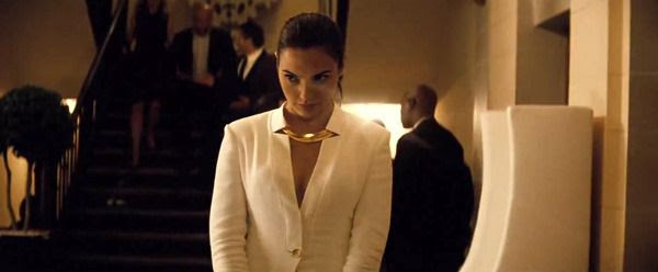 Gal Gadot as Diana Prince (a.k.a. Wonder Woman) in this scene from the BATMAN V SUPERMAN: DAWN OF JUSTICE Comic-Con trailer.