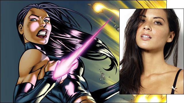 Olivia Munn Shows Her Psylocke Bruises in X-Men