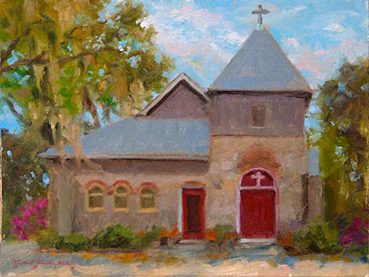 St Cyprian's - Darien, GA (2015) Oil painting by Richard  Nelson