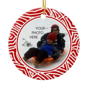 Scribbleprint Christmas ornament
