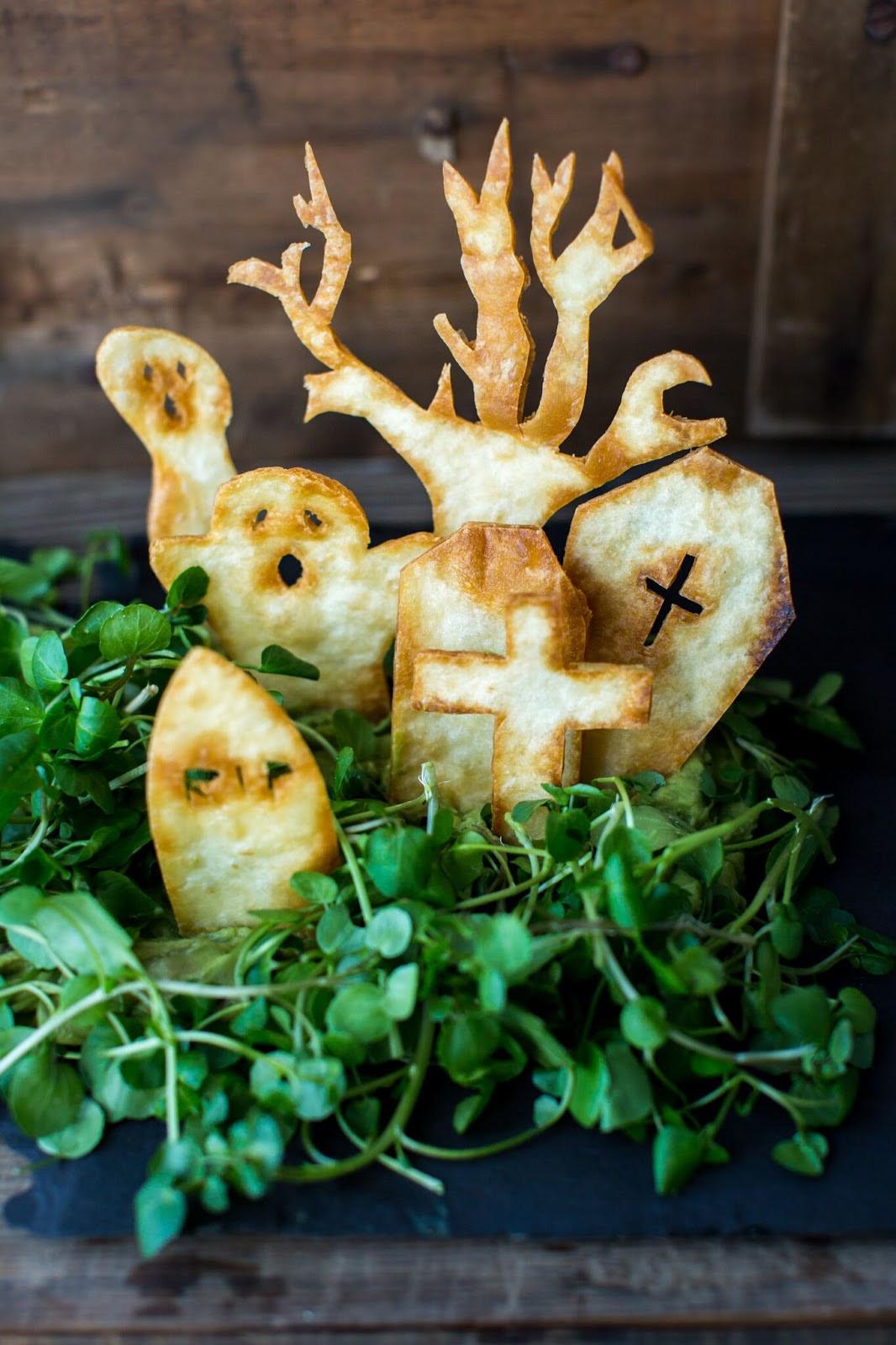 Spooky Tortilla Graveyard w/ Guacamole | Claire Justine