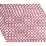Design Imports Placemats - Rose Lattice Place Mat - Set of Six