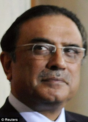Denial: Pakistan's President Asif Ali Zardari says his country did not knowingly shelter Bin Laden