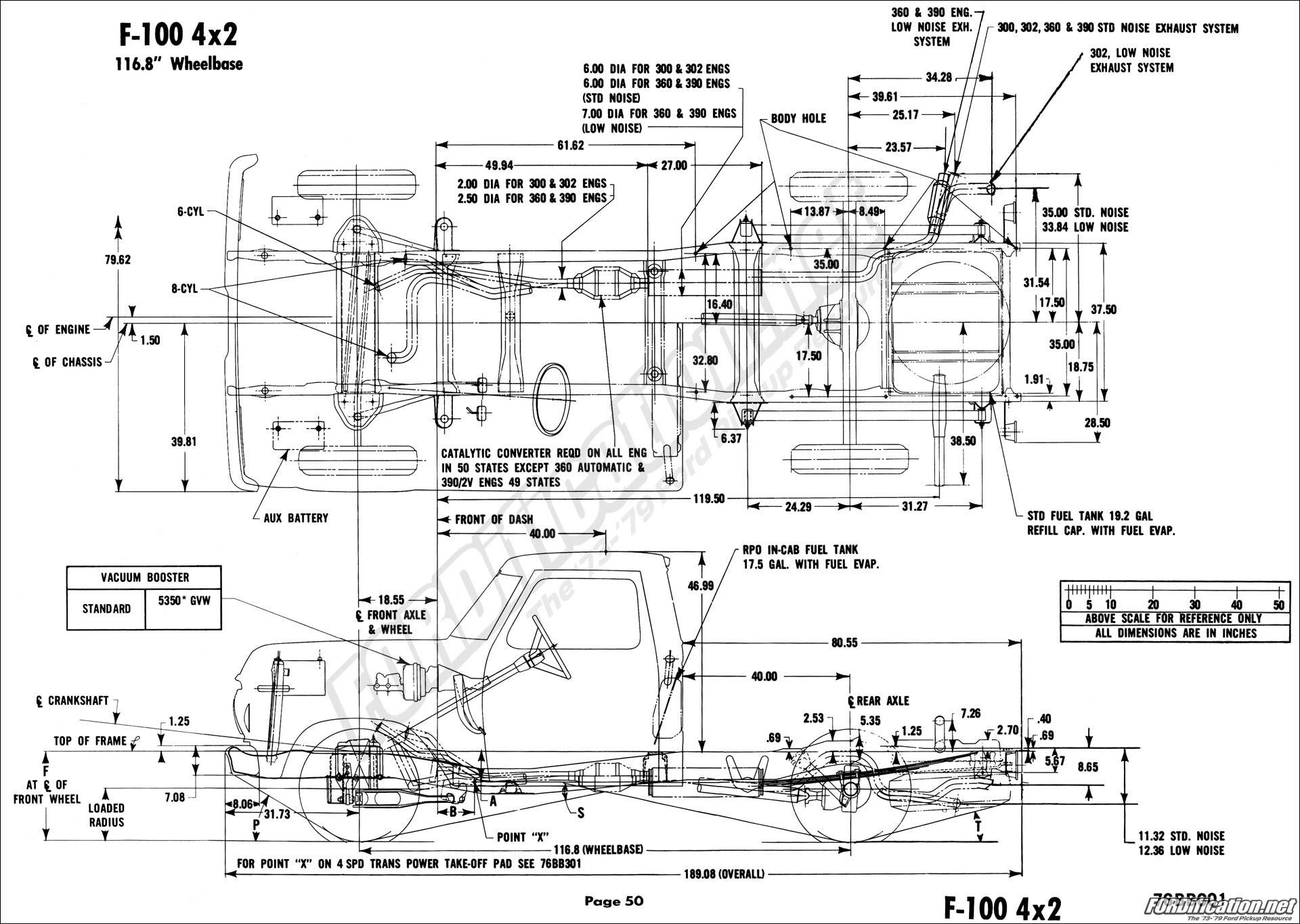 Ford F100 Frame Dimensions