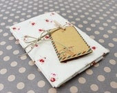Cottage Chic Small Red Rose Cotton Fabric in A Fat Quarter Size - Zakka