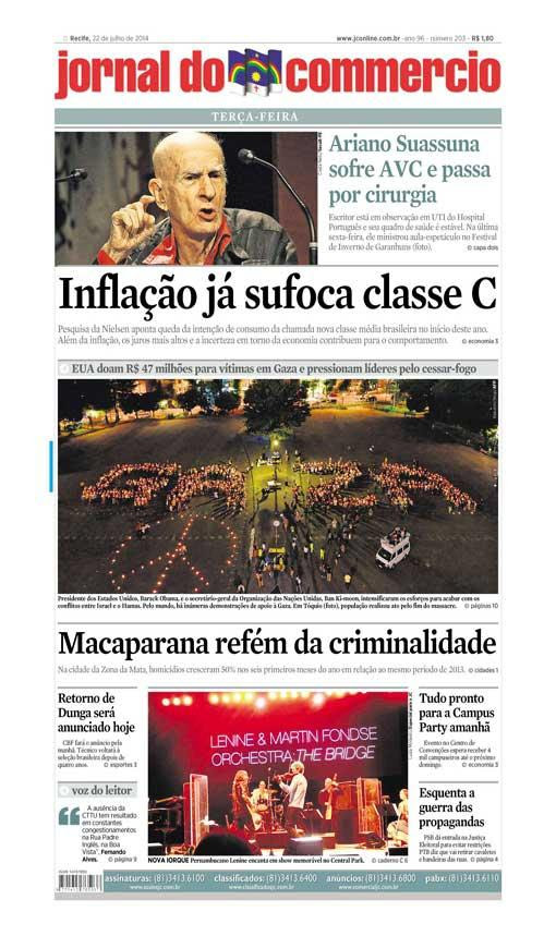 Capa do Jornal - 22/07/2014