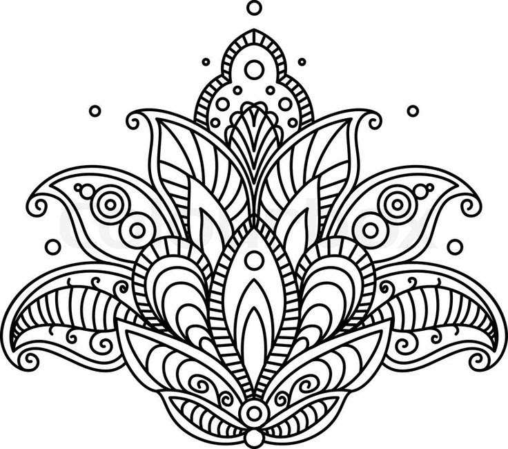 Flower Design Drawing At Getdrawingscom Free For Personal Use