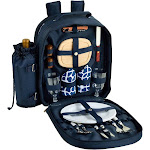 Picnic at Ascot Blue Picnic Backpack for 2