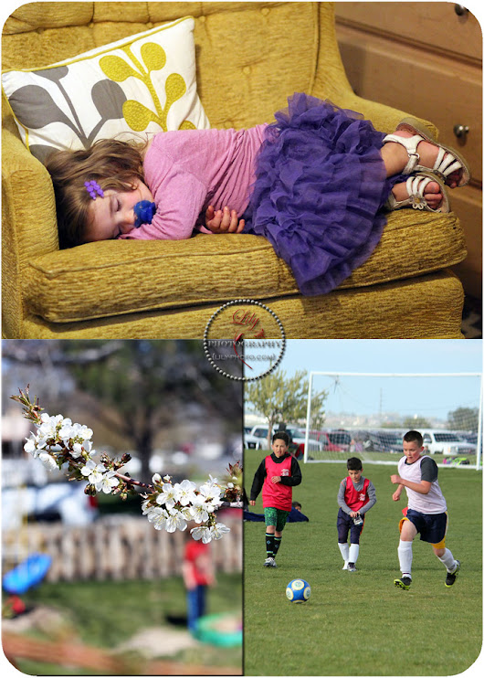 {April 2016: Springtime Blossoms, Soccer, Birthday, Dance}