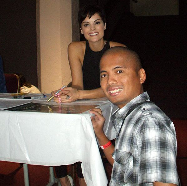 Posing with Jaimie Alexander at the Los Angeles Shrine Auditorium, on March 16, 2014.