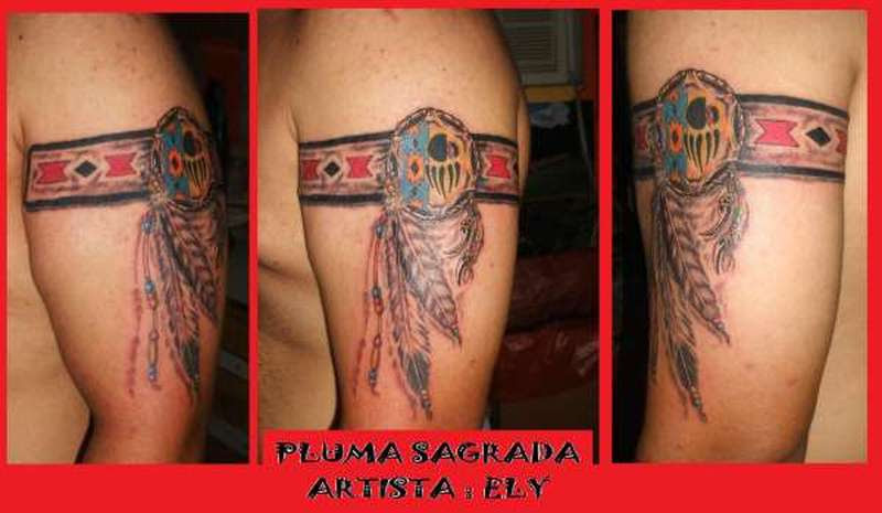 Native American Feather Armbands Tattoo Design Tattoos Book