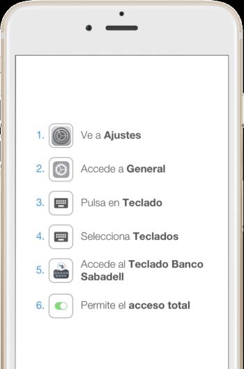 Teclado Banco Sabadell
