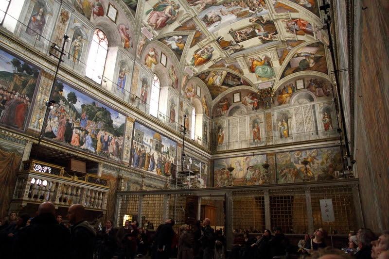 Fil: Sixtinska kapellet norra och östra Walls.jpg