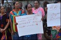 Pa'l'li-munai villagers on protest on 23 August