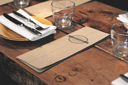 Restaurant Menu Mockup Free PSD Download - Download PSD