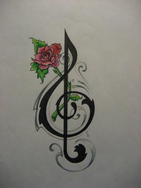 American Tattoo Gallery Music Note Tattoos