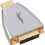 Rocketfish - DVI-to-HDMI Adapter - Silver/Gold