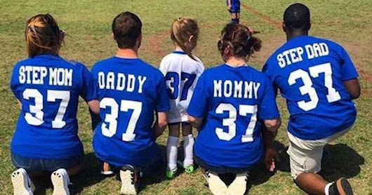 This Viral Soccer Game Photo Shows Co-Parenting At Its Finest