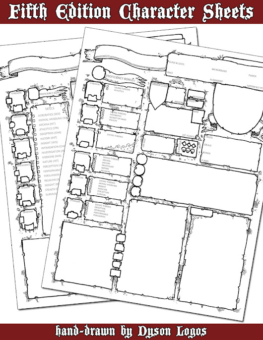 Fifth Edition Character Sheets
